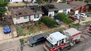 Saskatoon Fire Department responded to a house fire in the 3400 block of 33rd Street West. (Saskatoon Fire Department)