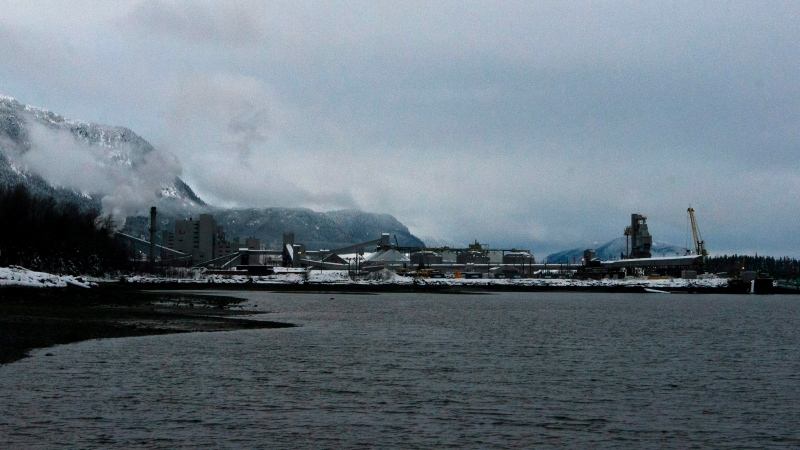A view of the Rio Tinto Alcan aluminum smelter, in Kitimat, B.C., Tuesday, Dec. 14, 2010. THE CANADIAN PRESS/Robin Rowland