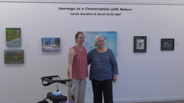 The Callander Bay Museum & Alex Dufresne Gallery is opening up with an art show featuring artwork by Sarah Carlin-Ball(left) and Carole Davidson(right). July 25/21 (Eric Taschner/CTV News Northern Ontario)
