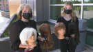 """Students in Sault College's hairstyling program are raising awareness to help those dealing with hair loss and remove the stigma of wearing wigs and are hosting the """"Wigged Out Walk-a-Thon"""" in support of the school's Wig Clinic. July 25/21 (Mike McDonald/CTV News Northern Ontario)"""