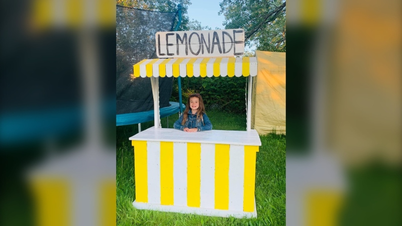 A little girl in Glace Bay, N.B. set up a lemonade stand Sunday for a really sweet cause. (Photo courtesy: Leigh-Anne's Legacy/Facebook)