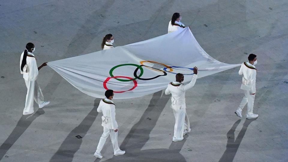 Olympic flag CNN