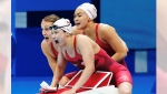 Team Canada secured a silver medal in the 4x100m swimming relay race in Tokyo on Saturday.