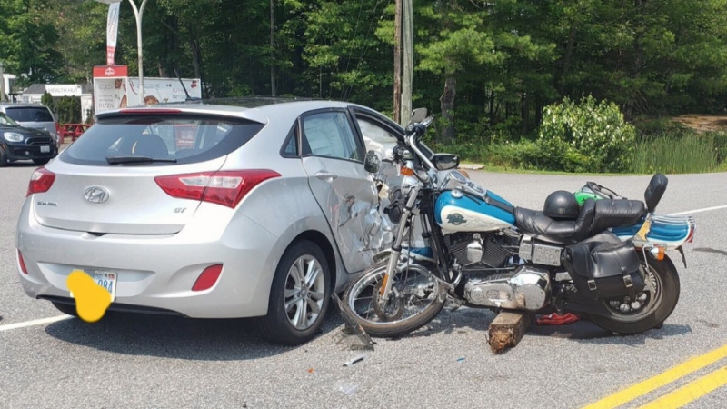 Four injured after cottage country crash