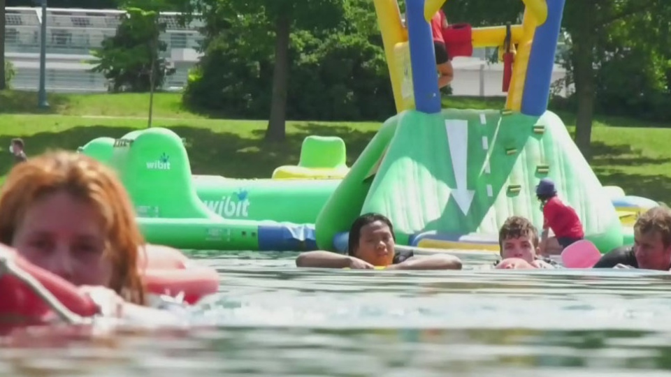 Olympians promote water safety
