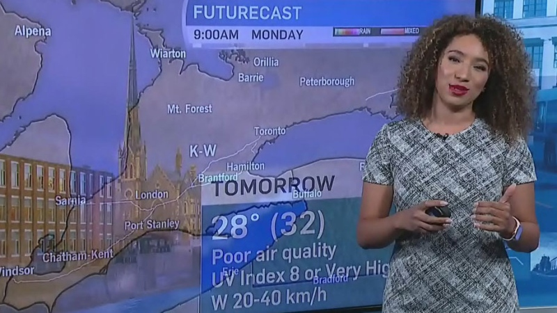 Mostly sunny throughout the work week
