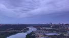 Clouds over Edmonton. Sunday July 25, 2021 (CTV News Edmonton)