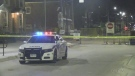 London police investigate a shooting that injured one person in the area of Dundas and English Street on July 25, 2021. (Joel Merritt/CTV London)