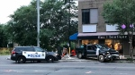 Police said only one vehicle, a black truck, was involved in a crash on July 26 at Jasper Avenue and 124 Street.