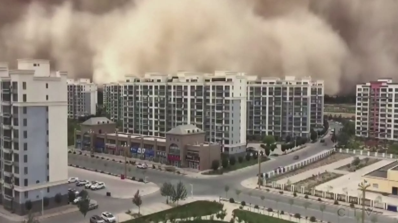 Sandstorm engulfs Dunhuang area in China