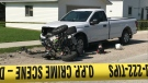 The OPP is investigating a serious ATV accident on Munger St in Harrow, Ont. on Monday, July 26, 2021. (Michelle Maluske/CTV Windsor)