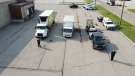 Chatham-Kent police and Ministry of Transportation conducted a commercial vehicle enforcement blitz in Wallaceburg, Ont. on Friday, July 23, 2021. (courtesy Chatham-Kent Police Service)