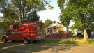 Firefighters were called to an abandoned house fire early Monday morning.
