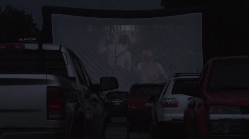 Pop-up drive-in movie event in northern Ontario. July 25/21 (Sergio Arangio/CTV Northern Ontario)