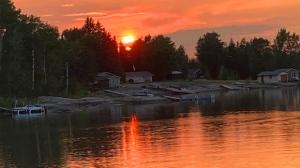 Sunset at Dorothy Lake. Photo by Gail Surman.