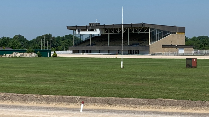 Dresden Raceway will be celebrating its Black Heritage with a special card of racing pictured in Dresden, Ont. on Monday, July 26, 2021. (Chris Campbell/CTV Windsor)
