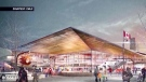 An artist rendering of the proposed arena project in Calgary. (CMLC handout)