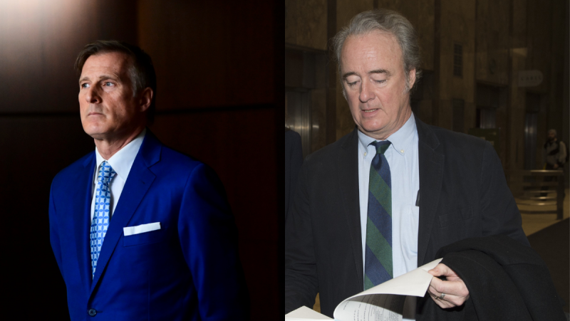 Maxime Bernier alleges Warren Kinsella repeatedly branded him as a racist on social media and blog posts before, during and after the federal election campaign last year. (THE CANADIAN PRESS: Sean Kilpatrick /Frank Gunn)