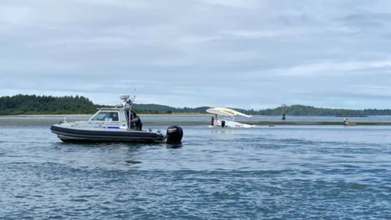 All four passengers and the pilot came away from the crash relatively unscathed: (Lacey Adams)