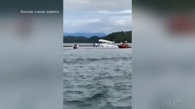 The July 26 floatplane crash in Tofino is pictured: (Lacey Adams)