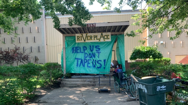 River Place at 245 Detroit Street in Windsor, Ont. on Monday, July 26, 2021. (Rich Garton/CTV Windsor)