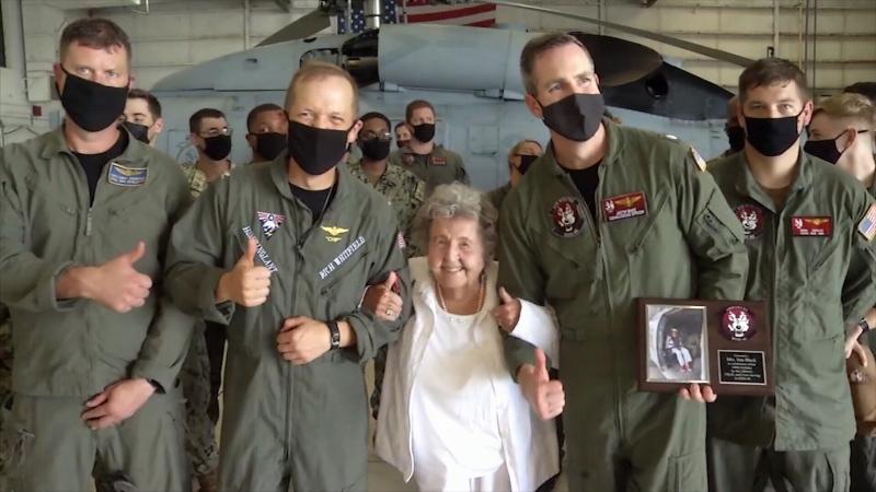 Veteran celebrates 100th birthday with wild ride