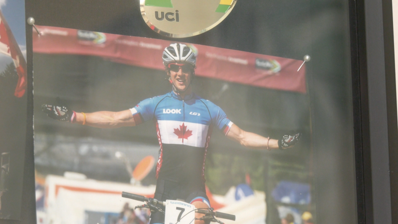 Peter Disera, 26, of Oro-Medonte, Ont., is a competitive mountain biker who finished 26th in the Tokyo games. (Supplied)