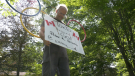 Peter Disera's family supports his dreams in the Tokyo games by decorating their Oro-Medonte, Ont. home. (Mon., July 26, 2021) Kraig Krause/CTV News