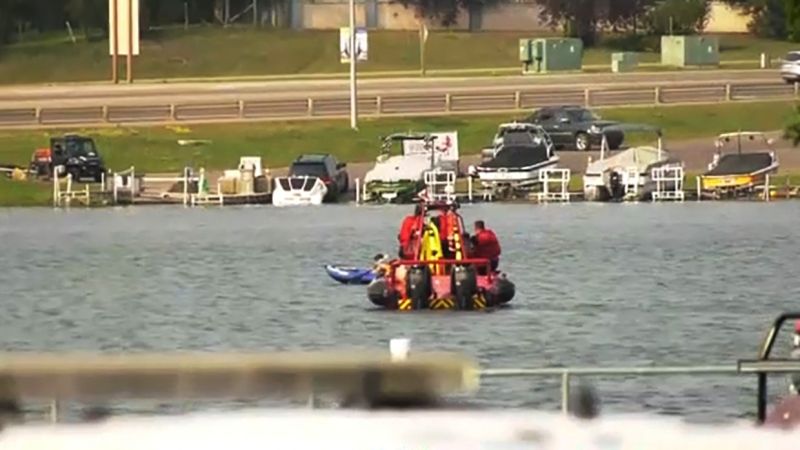 Chestermere RCMP are searching for a man in Chestermere Lake who may have drowned Monday afternoon