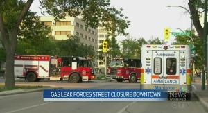 Gas leak downtown disrupts traffic