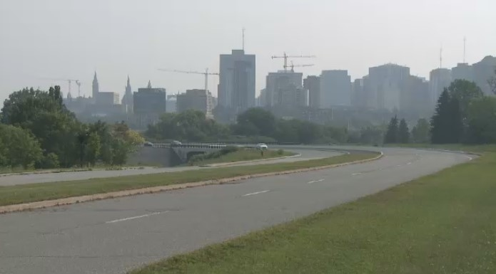 Smog hovers over the capital