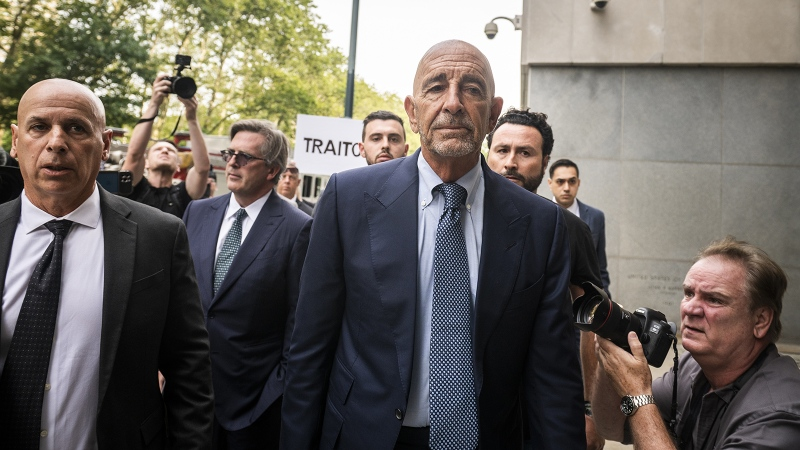 Tom Barrack Jr., chairman of the Trump 2016 Inaugural Committee, pleaded not guilty through his attorney to illegal foreign lobbying charges unveiled by the Justice Department. (Mark Kauzlarich/Bloomberg/Getty Images)