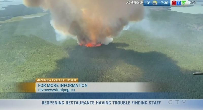 Current situation for wildfire evacuees