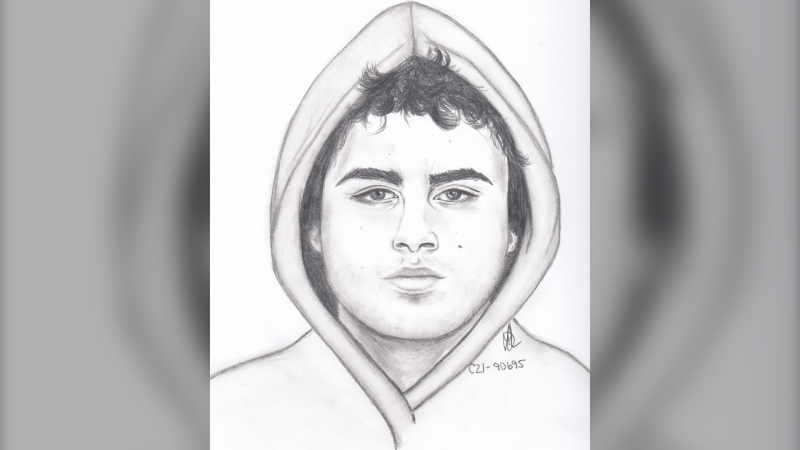A composite drawing of the suspect supplied by the Winnipeg Police Service.