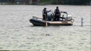 RCMP officers recovered the body of a 47-year-old Calgary man from Chestermere Lake Tuesday evening