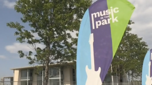 Music in the Park returns to the lawn of the Bradford Library on Tues., July 27, 2021. (Amanda Hicks/CTV)