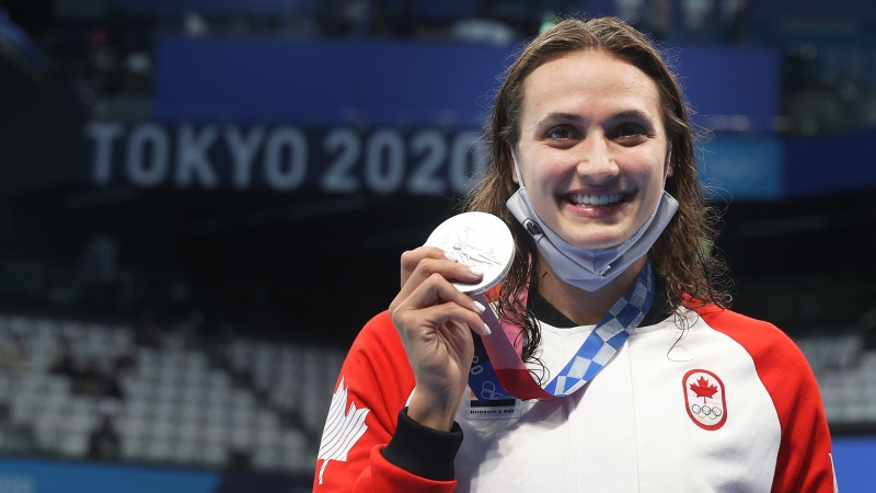Kylie Masse won the silver medal in the women's 100m backstroke event during the 2020 Tokyo Olympics.
