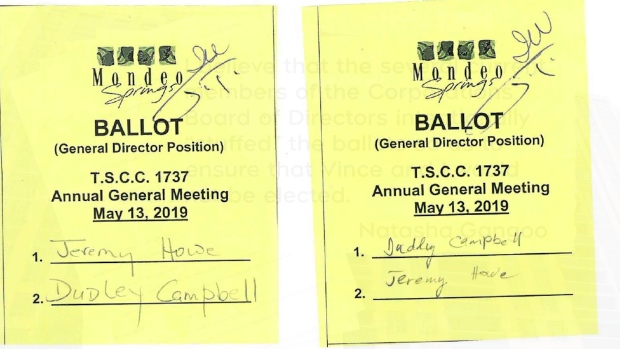 A Toronto condo election has turned into a two-year legal saga amid allegations of ballot box stuffing and intimidation. (Supplied)