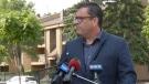 Paul Merriman makes an announcement in Saskatoon on July 27, 2021. (CTV News)