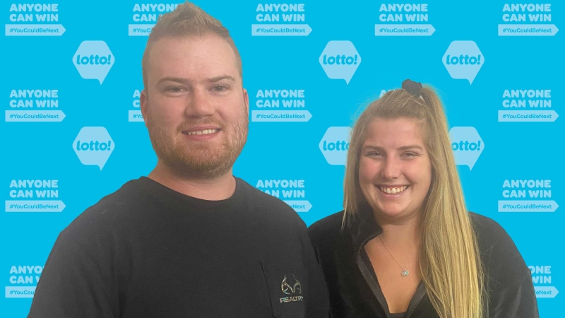 Liam McIver and Anita Cremer are pictured in an image provided by BCLC.