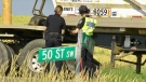 A crash sent a youth to hospital in critical condition. Tuesday July 27, 2021 (CTV News Edmonton)