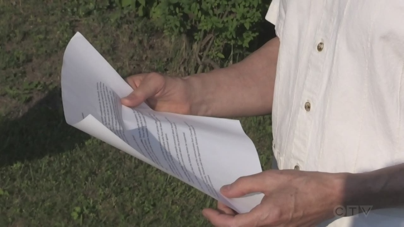 Van Holst holds letter to Council