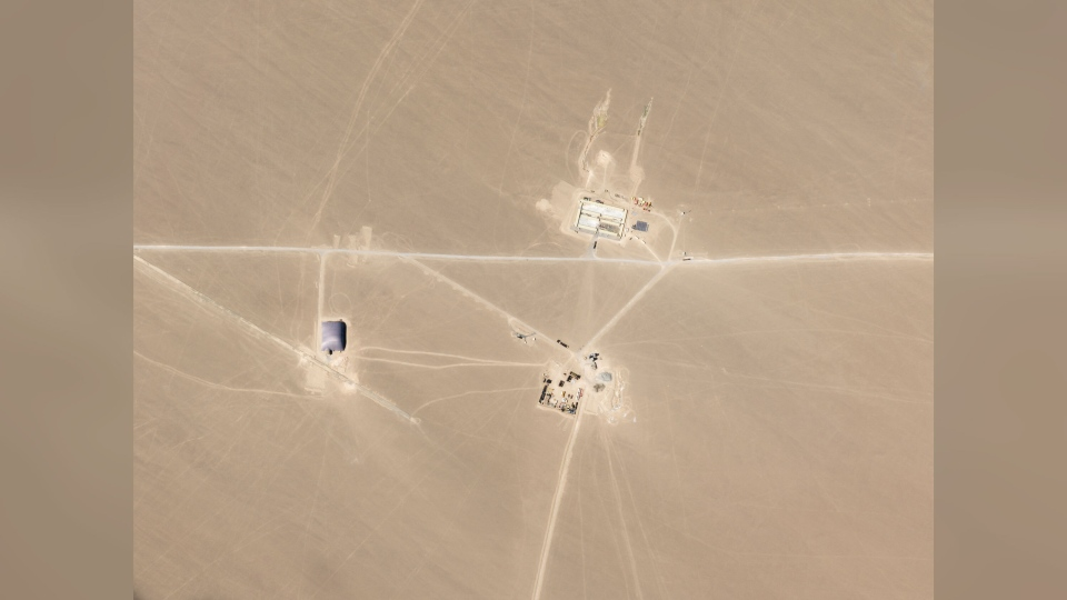 Satellite image of potential Chinese missile silos
