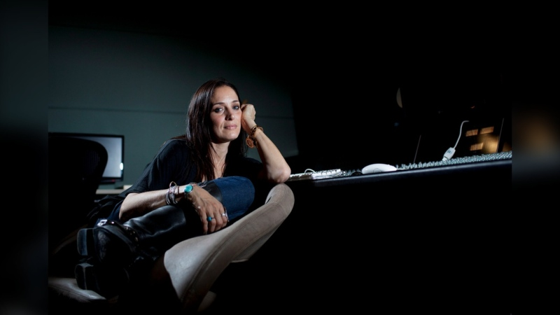 Singer-songwriter Chantal Kreviazuk poses for a photo in Toronto on May 6, 2013. (Michelle Siu / THE CANADIAN PRESS)