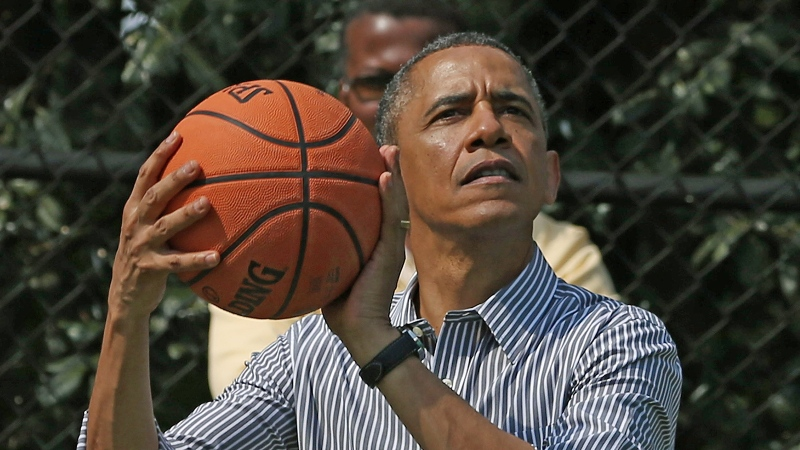 Former U.S. President Barack Obama has joined NBA Africa as a strategic partner, the National Basketball Association announced on July 27. (Mark Wilson/Getty Images)