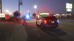 """Officers on scene told CTV News Edmonton around 10:30 p.m. July 27, 2021, they were dealing with an """"active shooting event"""" on Gateway Boulevard near 51 Avenue."""