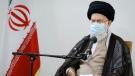 Iranian Supreme Leader Ayatollah Ali Khamenei speaks in a meeting in Tehran, Iran, on July 23, 2021. (Office of the Iranian Supreme Leader via AP)