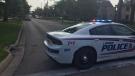 Police on scene of shooting, Tuesday evening - Wednesday July 28, 2021 (Marek Sutherland / CTV News)