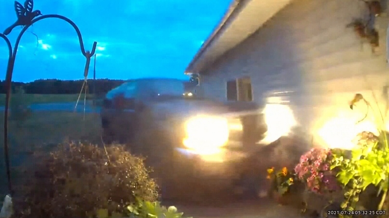 Accused stalker crashes SUV into victim's house
