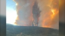 White Rock Lake wildfire near Merritt, B.C., on July 25. (BC Wildfire Service/Twitter)